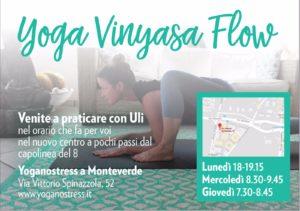 yoga vinyasa flow con uli casaletto monteverde roma bravetta